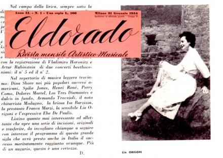 Lia Origoni punta di diamante della casa musicale RCA con Toscanini, Isa Barzizza e Modugno