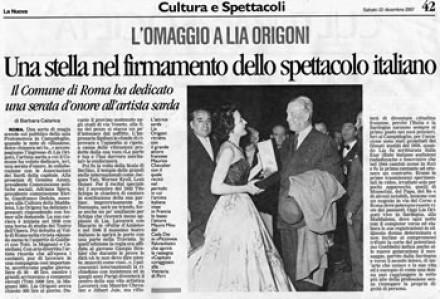 Una stella nel firmamento dello spettacolo italiano