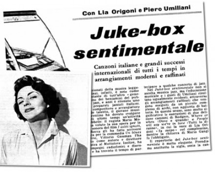 Il Radiocorriere TV:  Lia Origoni e P. Umiliani in Juke-box sentimentale
